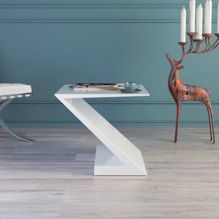 Made in Italy white coffee table, modern design, Zeta