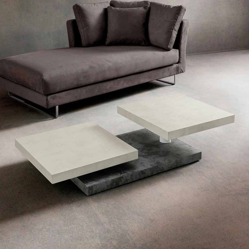 Coffee table with revolving tops in HPL Made in Italy, Precious - Paris