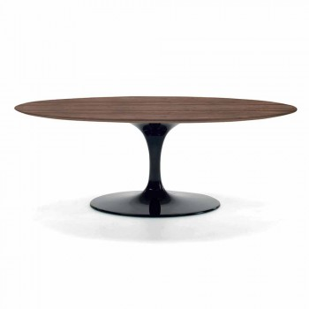 Coffee Table with Oval Top in HPL Laminate Made in Italy - Dollars