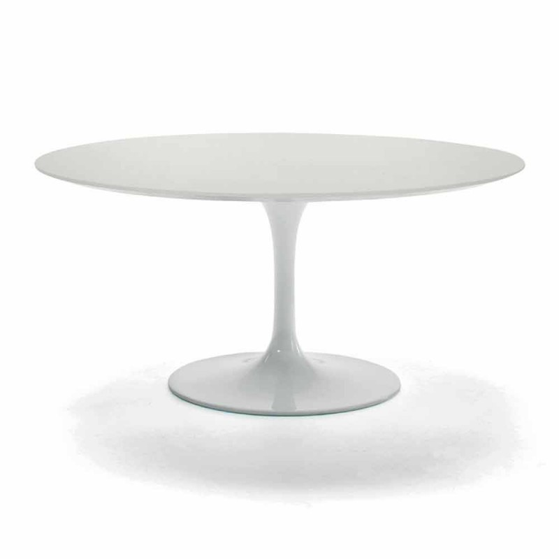 Coffee Table with Round Top in Precious Made in Italy Laminate - Dollars