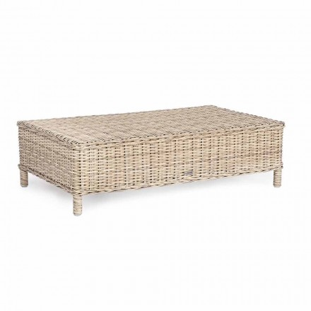 Homemotion - Casimiro Ethnic Style Garden Table in Braided Fiber