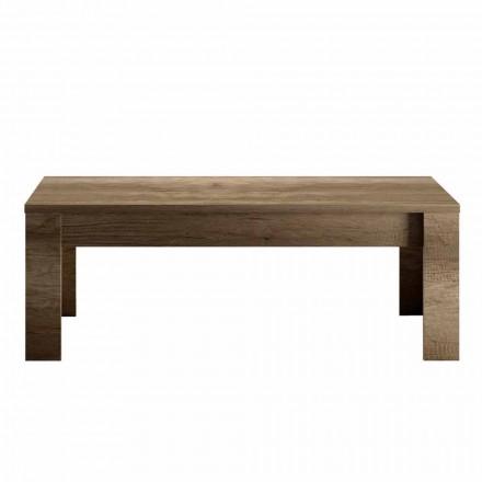 Design Coffee Table in Oak or White Melamine Made in Italy - Terno