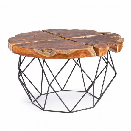 Homemotion Design Coffee Table with Teak Top - Grillo