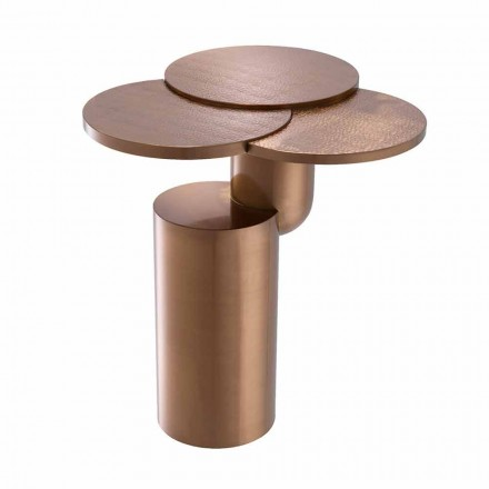 Design Coffee Table in Brushed Copper Finish Steel - Olbia