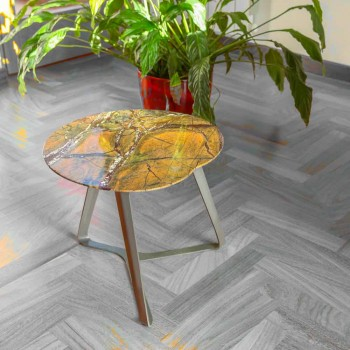 Coffee Table Handmade in Marble and Steel Made in Italy - Prince