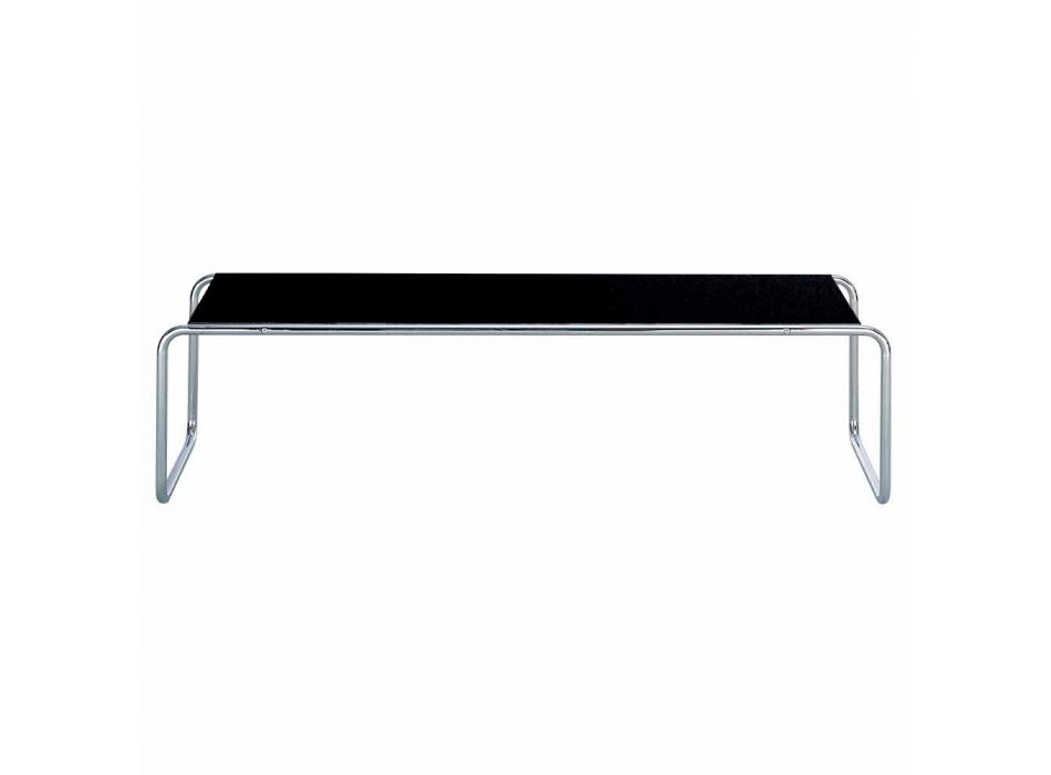 Coffee Table in Chromed Steel with Laminated Top Made in Italy - Ariete