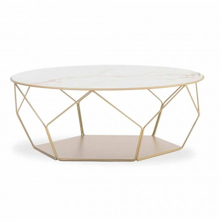 Coffee Table in Ceramics and Metal Made in Italy - Arbor