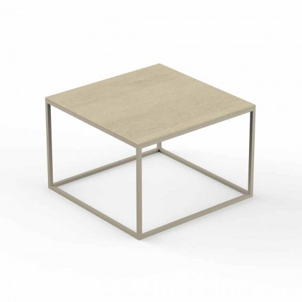 Design Garden Coffee Table, Square Marble Effect Top - Suave by Vondom