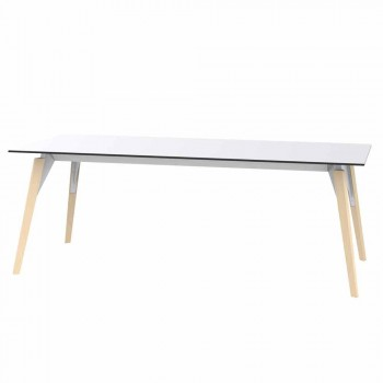 Coffee Table in White or Black Laminate in 2 Sizes - Faz Wood by Vondom