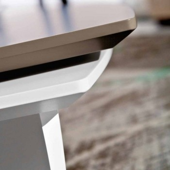 Coffee Table in Lacquered Mdf with Swivel Top Made in Italy - Lisa