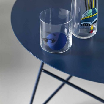 Coffee Table in Colored Metal and 3 Dimensions, Made in Italy - Magali