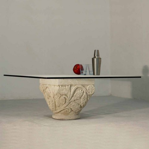 Classic style stone and crystal coffee table Mytros