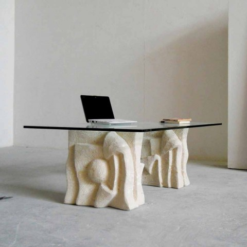 Terrific Modern Design Natural Stone Coffee Table With Crystal Top Priamo S Ncnpc Chair Design For Home Ncnpcorg