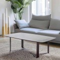 Coffee Table in Ceramic Glass with Base in Painted Metal - Camilo
