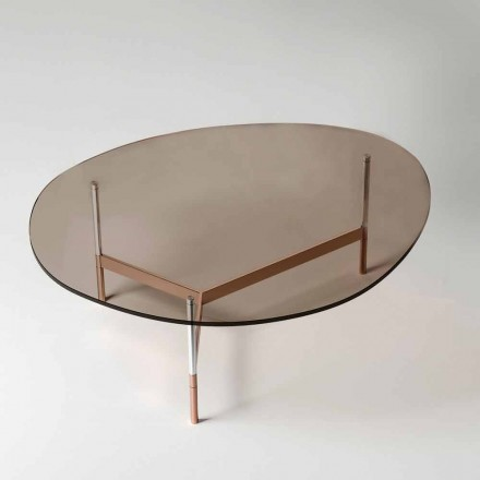 Modern Coffee Table with Glass Top Made in Italy - Cinci
