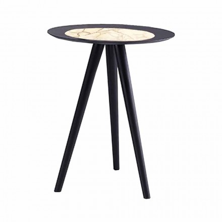 Modern Coffee Table with Round Top in Gres Made in Italy - Stuttgart