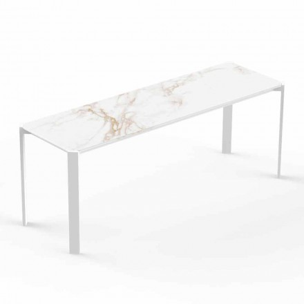 Modern Indoor or Outdoor Coffee Table in Aluminum - Tablet by Vondom