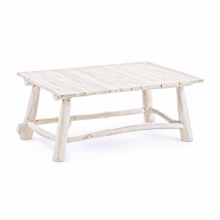 Homemotion Modern Coffee Table in Bleached Teak Branches - Bambo