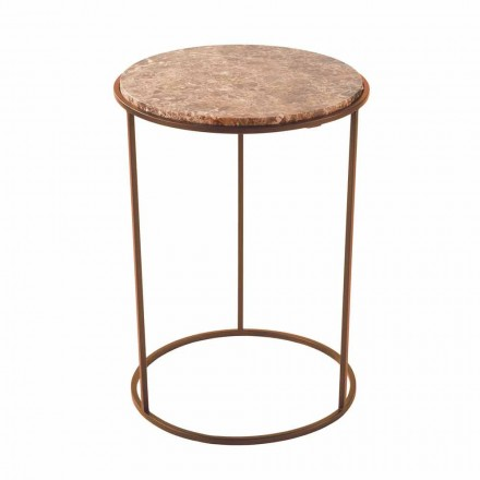 Modern Round Coffee Table in Metal and High Quality Marble - Raphael