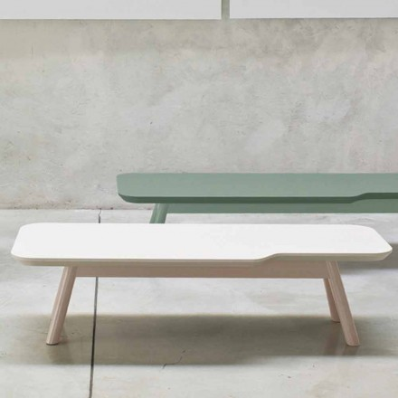 Precious Coffee Table in Solid Ash Wood Made in Italy - Ulm