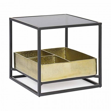 Homemotion Square Coffee Table with Glass Top - Sigismondo
