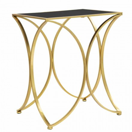Modern Rectangular Lounge Table in Iron and Mirror - Amice