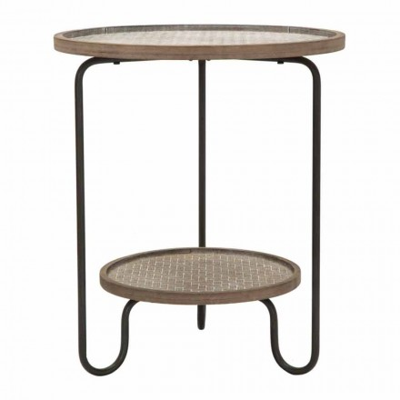Modern Design Round Iron and MDF Coffee Table - Luther