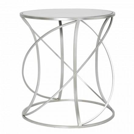 Modern Style Round Iron and Mirror Coffee Table - Cymone