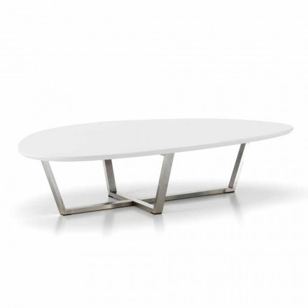 Modern Shaped Lounge Table with White MDF Top - Ready