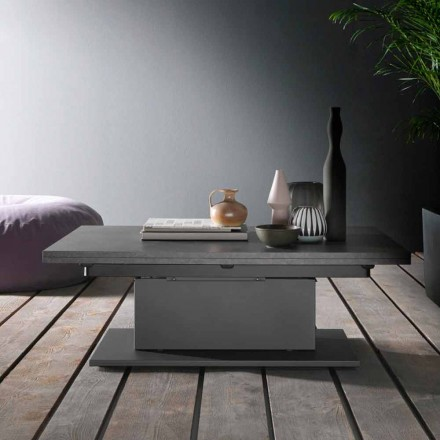 Transforming Coffee Table with Wooden Top Made in Italy - Annarita