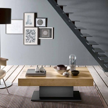 Transformer Table in Wood and Steel Made in Italy - Demetro