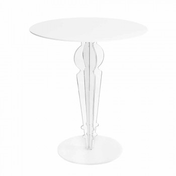 Classic design coffee table, in H 64cm acrylic glass, Cles