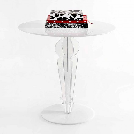 Classic design small table in acrylic crystal H 64 cm, Cles
