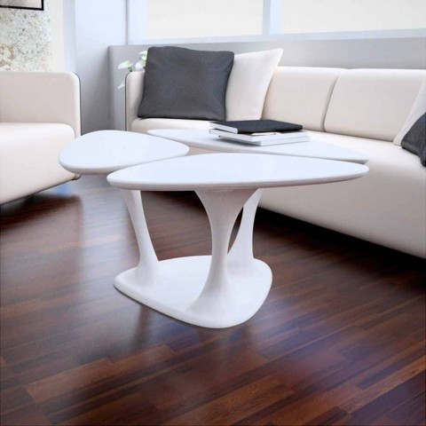 Salontafels Modern Design.Modern Design Coffee Table Amanita Solid Surface Made In Italy