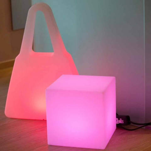 Colored Illuminated Coffee Table of Modern Design with Choice of Attachment - Dadostar