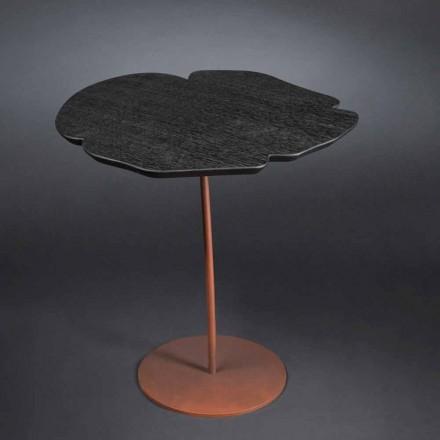 Oak coffee table Andy, moka colour