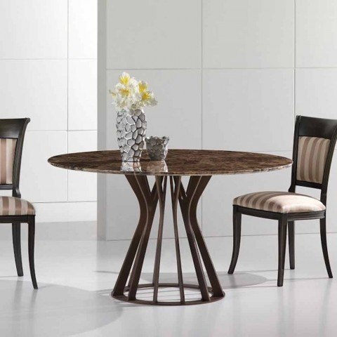 Stupendous Dining Table Made Of Emperador Dark Marble Modern Design Cesare Home Remodeling Inspirations Genioncuboardxyz