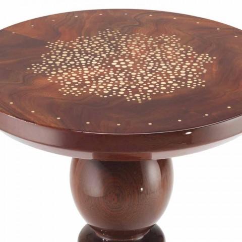 Lamp table with brass decoration top, diameter 45 cm, Sanni