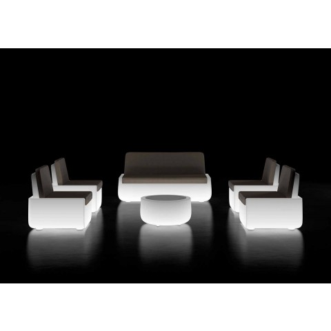 Bright Outdoor Coffee Table with LED Light and Hpl Top Made in Italy - Belida