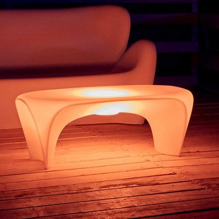 RGB Luminous Coffee Table for Outdoor or Indoor Design in Plastic - Lily by Myyour