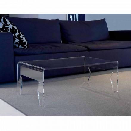 Modern design clear methacrylate coffee table Chris, L85xP50xH31 cm