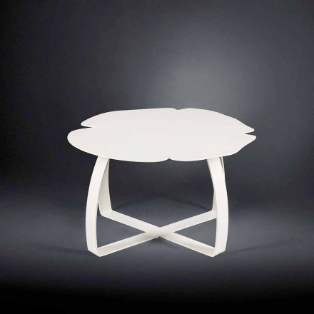 Flower-shaped laser cut coffee table Andy, modern design