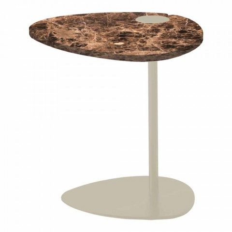 Coffee Table for Living Room in Metal and Marquinia Marble, Luxury Design - Yassine