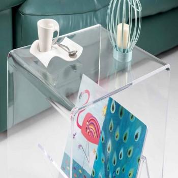 Modern design coffee table / magazine rack, in Cavour plexiglass