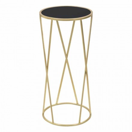 Round Design Coffee Table in Iron and Glass - Faith