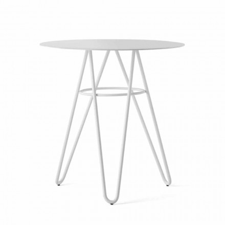 Precious Outdoor Coffee Table in HPL and White Metal Made in Italy - Dublin