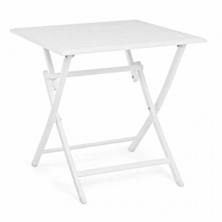 Square Folding Outdoor Coffee Table in Painted Aluminum - Hunt