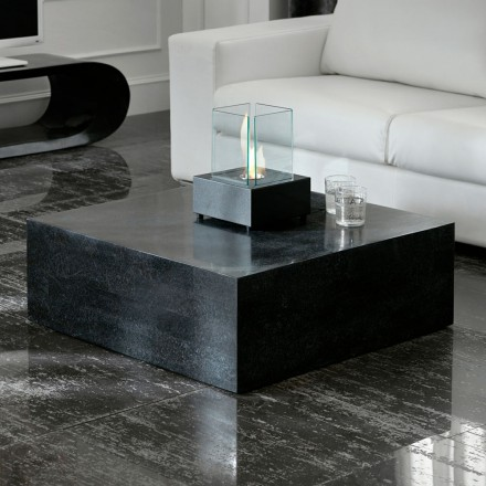 Square fossil stone coffee table Florida