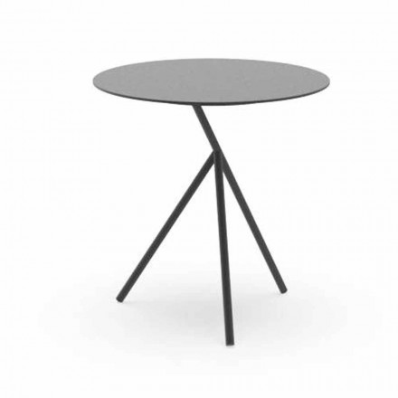 Round Garden Coffee Table in White or Charcoal Aluminum - Sofy by Talenti