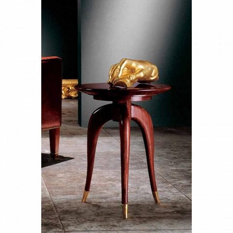 Classic design round coffee table, diameter 40 cm, Clay